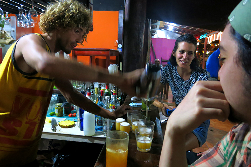 best drinks in puerto viejo at Lazlo's Catch of the Day